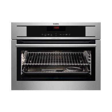 AEG H455xW594xD567 Compact Electric Oven - Stainless Steel