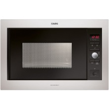 AEG H459xW594xD437 26lt Built In Microwave - Stainless Steel