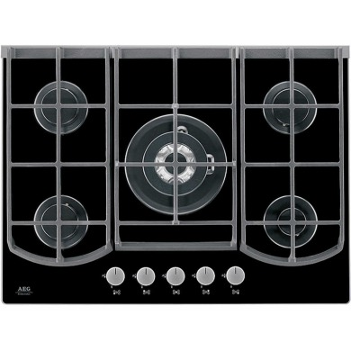 AEG H45xW740xD510 Gas on Glass 5 Burner Hob - Black
