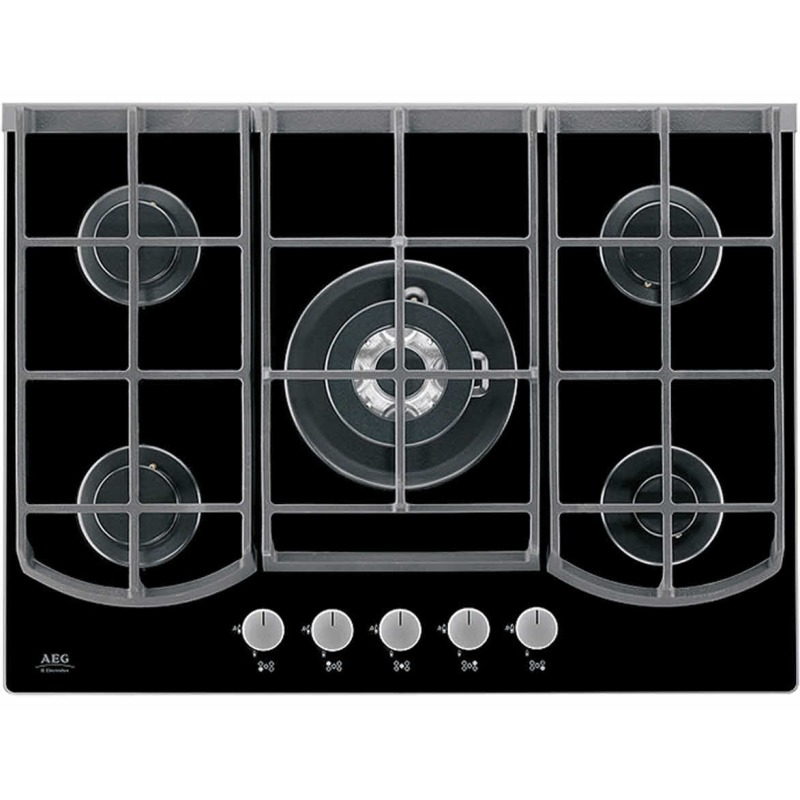 AEG H45xW740xD510 Gas on Glass 5 Burner Hob - Black primary image