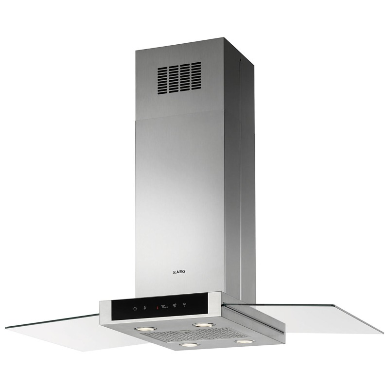 AEG H60xW998xD600 Island Hood - Stainless Steel & Glass primary image