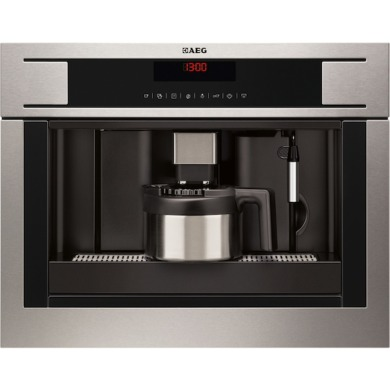 AEG H455xW594xD567 Compact Coffee Machine - Stainless Steel