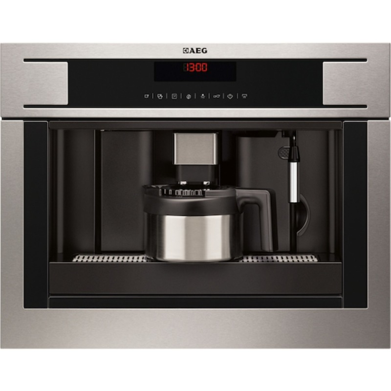 AEG H455xW594xD567 Compact Coffee Machine - Stainless Steel primary image
