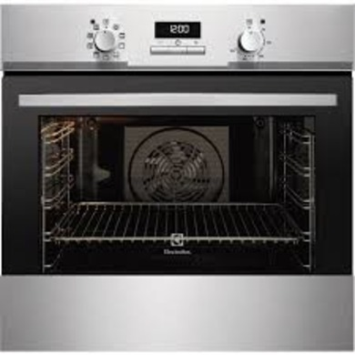 Electrolux H594xW594xD568 Single Multi Function Oven - Stainless Steel - EOB3400EAX
