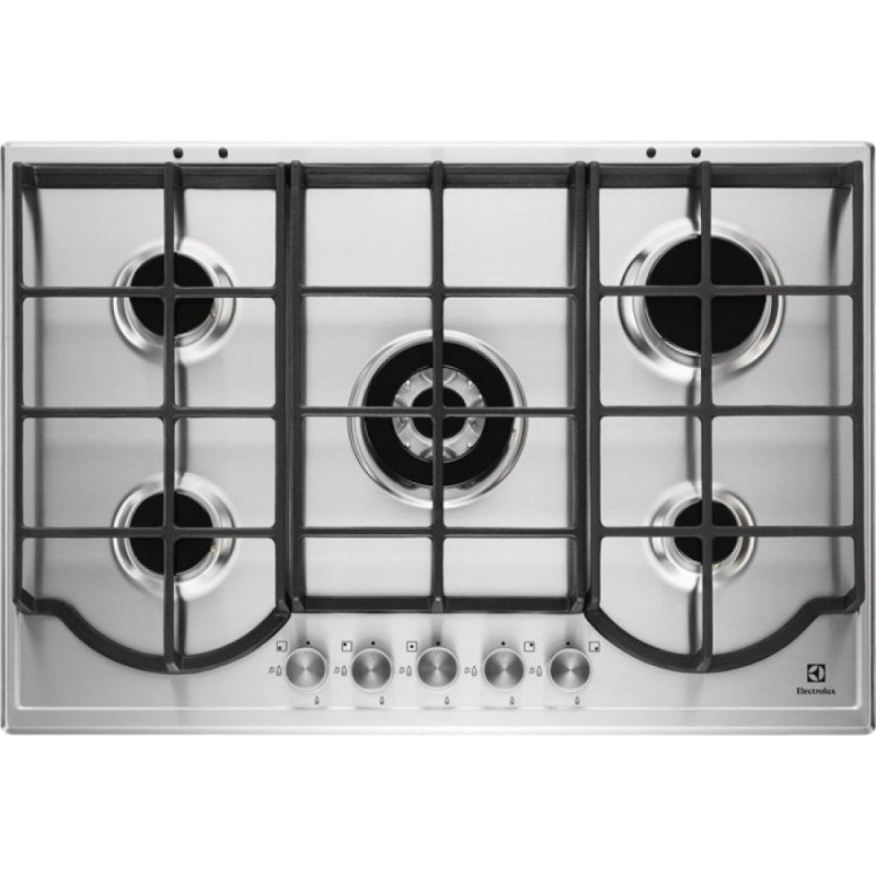 Electrolux H32xW744xD510 Gas Hob 5 Burner Stainless Steel primary image