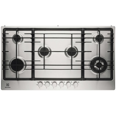 Electrolux H30xW894xD510 Gas Hob 6 Burner Stainless Steel - EGG9363NOX