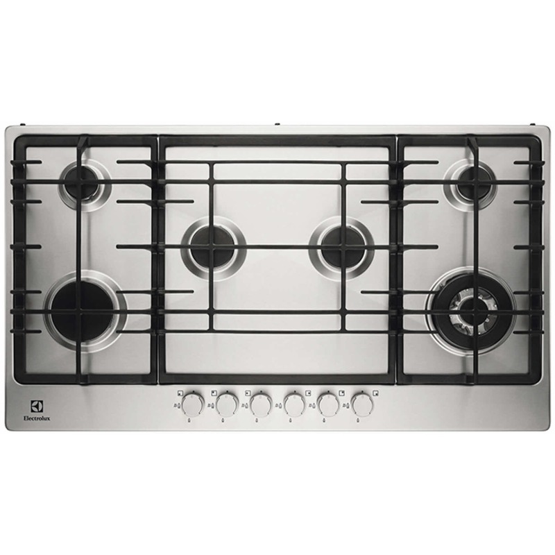 Electrolux H30xW894xD510 Gas Hob 6 Burner Stainless Steel primary image