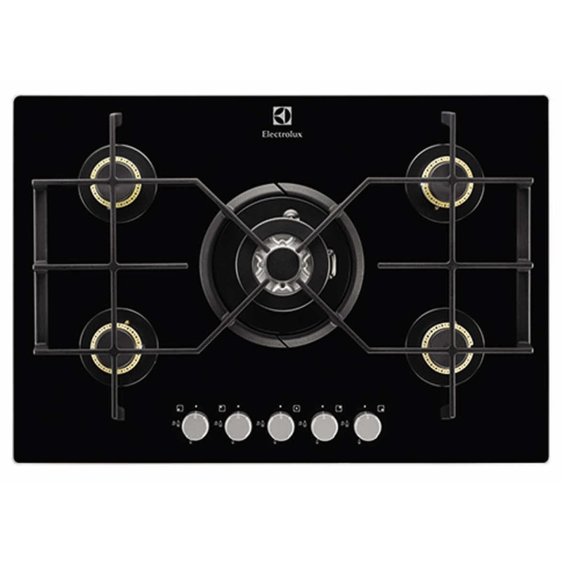 Electrolux H45xW740xD510 Gas On Glass Hob 5 Burner - Black primary image