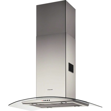Electrolux H70xW898xD650 Curved Glass Island Hood - Stainless Steel