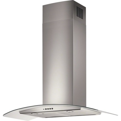 Electrolux H70xW898xD490 Curved Glass Chimney Hood - Stainless Steel