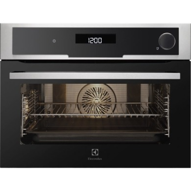 Electrolux H455xW594xD567 Compact Combination Steam Oven - Stainless Steel - EVY9841AAX