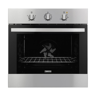 Zanussi H600xW560xD550 Single Fan Oven - Stainless Steel