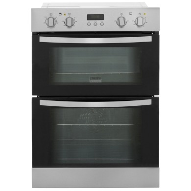 Zanussi H888xW594xD548 Built In Multi Function Double Oven - Stainless Steel - ZOD35511XK