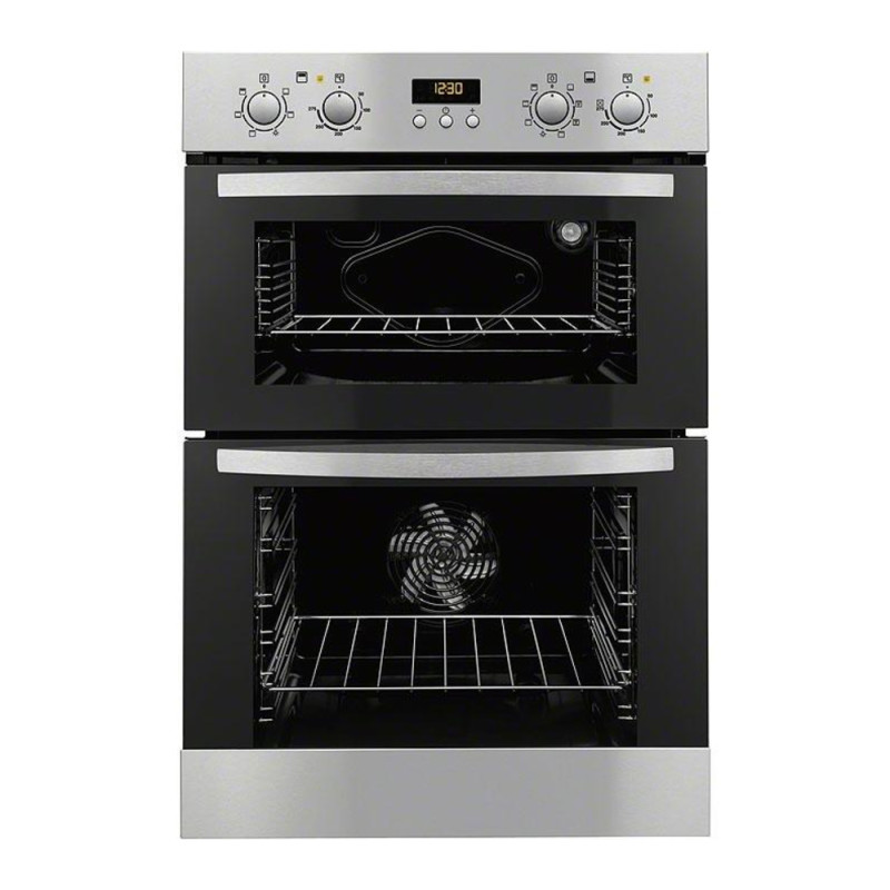 Zanussi H888xW594xD548 Built In Electric Double Oven - Stainless Steel - ZOD35712XK primary image