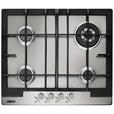 Zanussi H30xW594xD510 Gas 4 Burner Hob - Stainless Steel