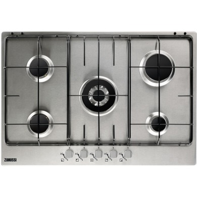 Zanussi H30xW744xD510 Gas 5 Burner Hob - Stainless Steel