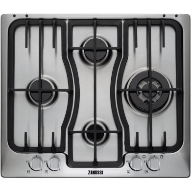 Zanussi H35xW594xD510 Gas 4 Burner Hob - Stainless Steel