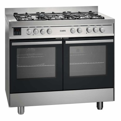 AEG H900xW1000xD600 Dual Fuel Multi-Function Range Cooker - Stainless Steel