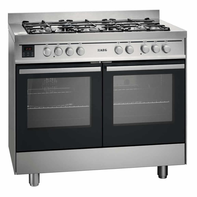 AEG H900xW1000xD600 Dual Fuel Multi-Function Range Cooker - Stainless Steel primary image