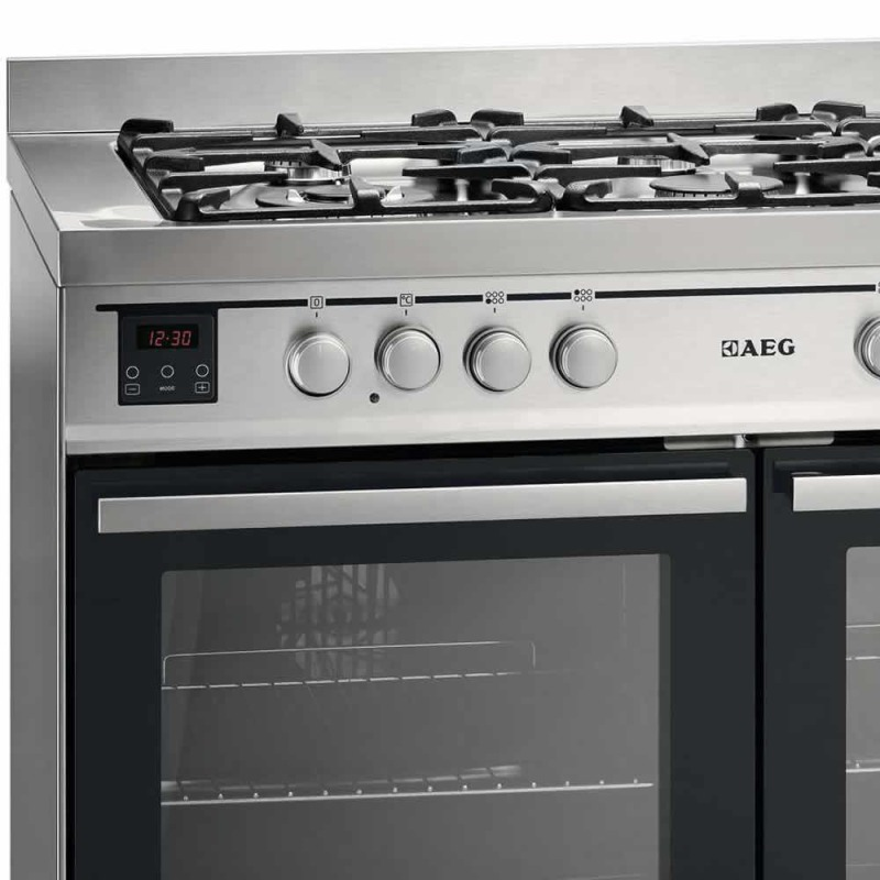 AEG H900xW1000xD600 Dual Fuel Multi-Function Range Cooker - Stainless Steel additional image 2