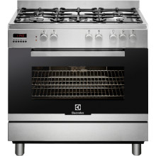 Electrolux H900xW960xD690 Single Cavity Dual Fuel Range Cooker - Stainless Steel