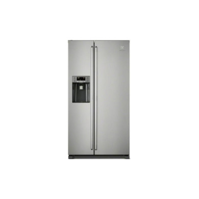 Electrolux H1840xW970xD767 Side by Side Fridge Freezer With Ice And Water - Stainless - EAL6141WOX