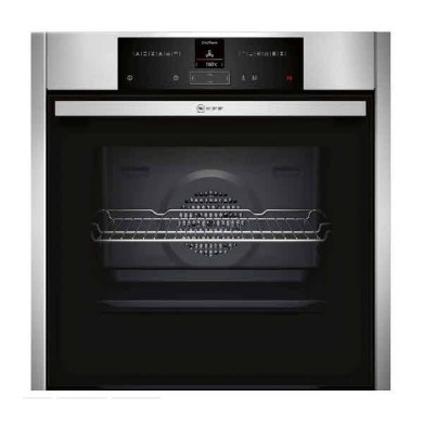 Neff H595xW596xD548 Single Multifunction Pyrolytic Oven - Stainless Steel - B25CR22N1B