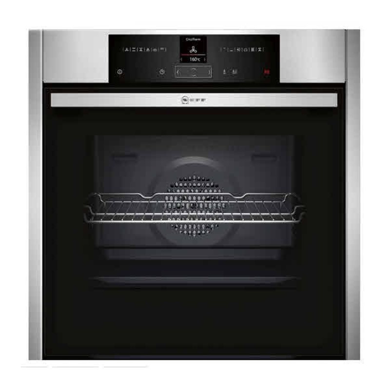 Neff H595xW596xD548 Single Multifunction Pyrolytic Oven - Stainless Steel - B25CR22N1B primary image