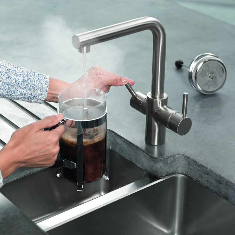 Insinkerator 3N1 Hot Water Tap Brushed Steel additional image 8