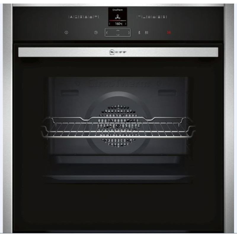 Neff H595xW596xD548 Single Multifunction Pyrolytic Oven - Stainless Steel primary image