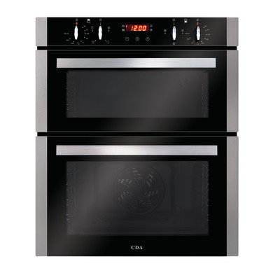 CDA H718xW595xD564 Built-Under Electric Double Oven - Stainless Steel