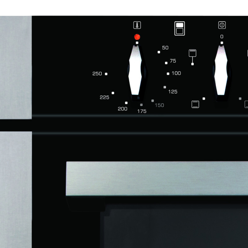 CDA H718xW595xD564 Built-Under Electric Double Oven - Stainless Steel additional image 2