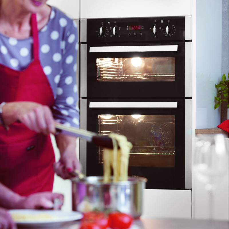 CDA H718xW595xD564 Built-Under Electric Double Oven - Stainless Steel additional image 3