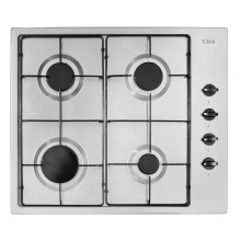 CDA H43xW580xD500 Gas Hob 4 Burner - Stainless Steel - HG6150SS
