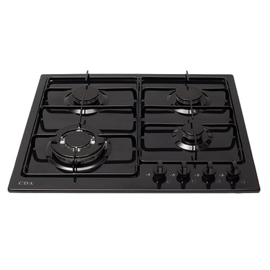 CDA H43xW580xD500 Gas Hob 4 Burner - Black