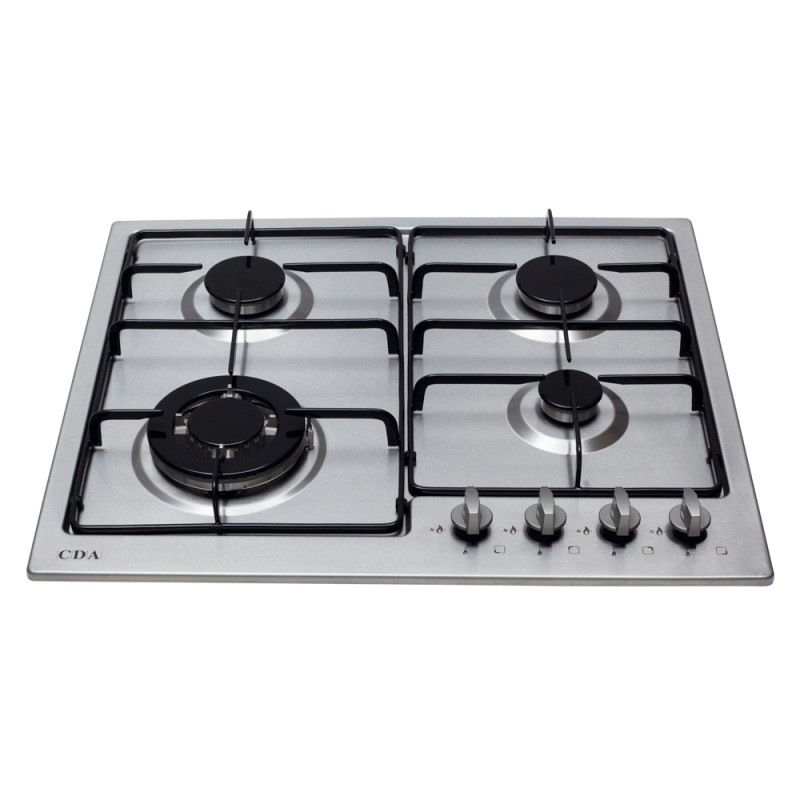 CDA H43xW580xD500 Gas Hob 4 Burner - Stainless Steel additional image 1