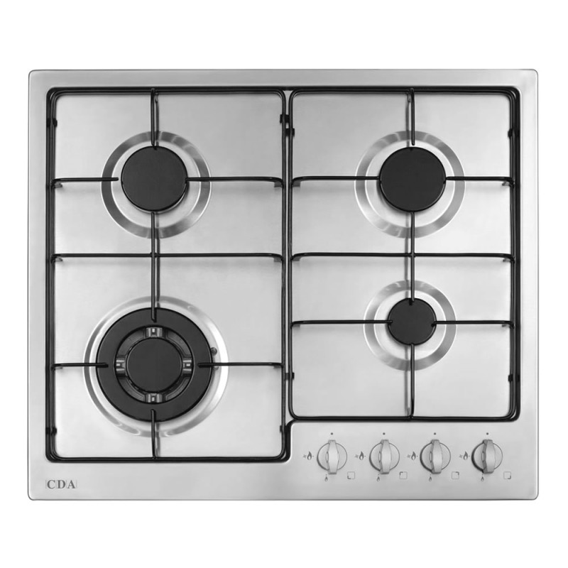 CDA H43xW580xD500 Gas Hob 4 Burner - Stainless Steel primary image