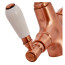 Fortuna Tap Copper with White Handles - High/Low Pressure additional image 4