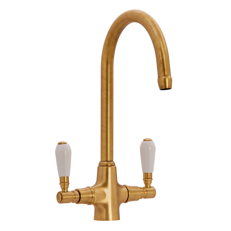 Fortuna Tap Bronze with White Handles - High/Low Pressure primary image