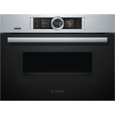 Bosch H455xW595xD548 Compact Microwave -  Stainless Steel