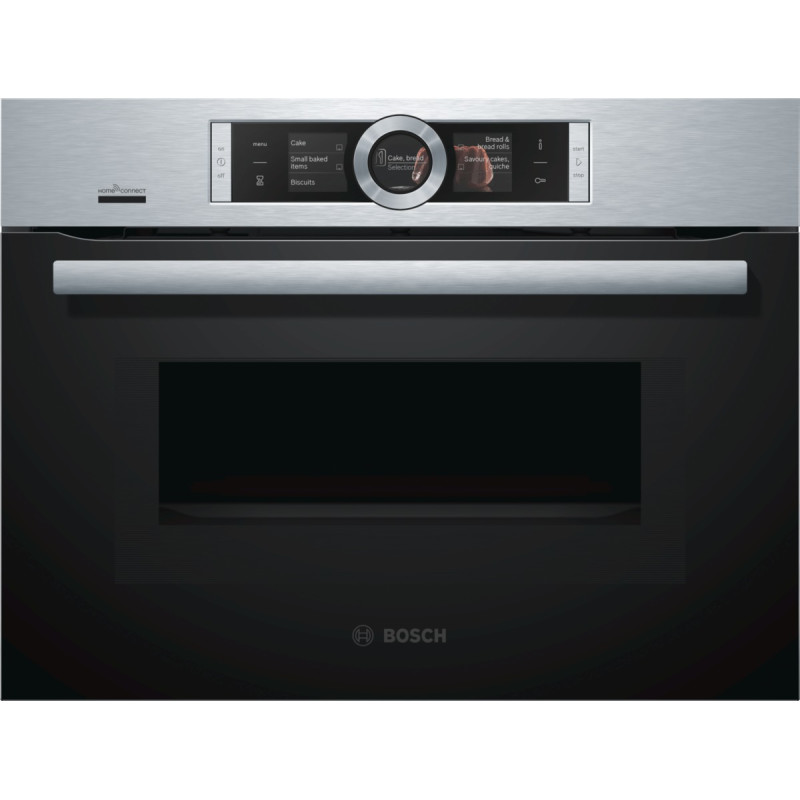 Bosch H455xW595xD548 Compact Microwave -  Stainless Steel primary image