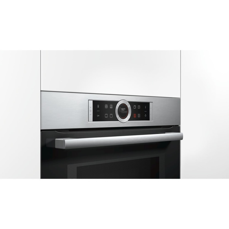 Bosch H455xW595xD548 Compact Microwave -  Stainless Steel additional image 4