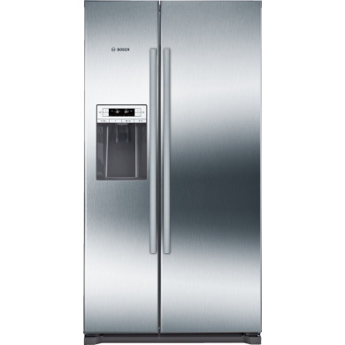 Bosch H1770xW910xD720 Side by Side Fridge Freezer - Stainless Steel - KAD90VI20G
