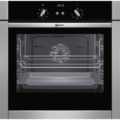 Neff H595xW595xD550 Single Multifunction Oven - Stainless Steel - B44M42N5GB