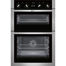 Neff H888xW594xD550 Built In Double Multifunction Oven - Stainless Steel