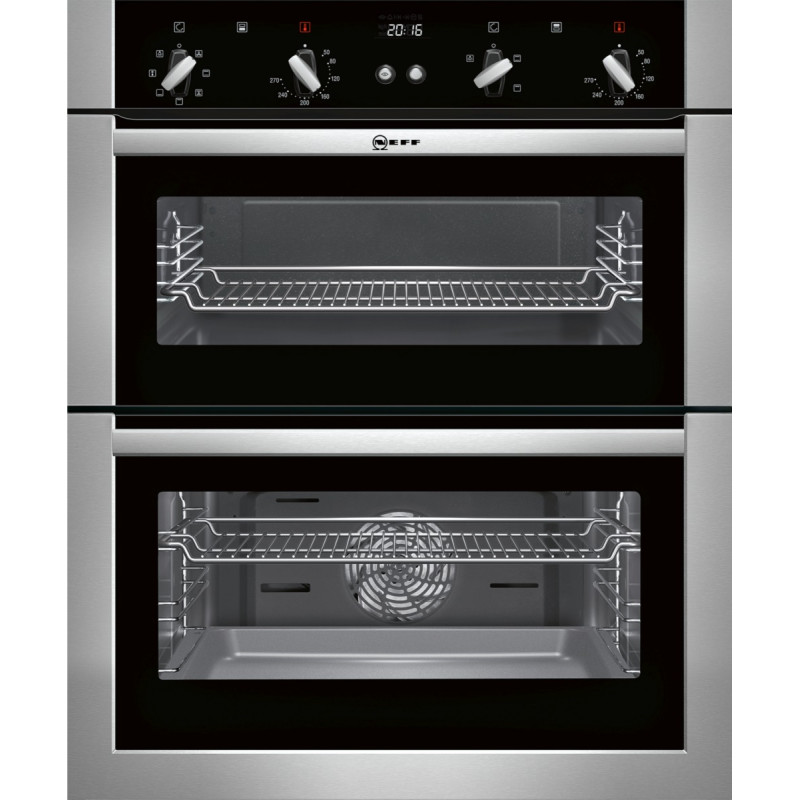 Neff H717xW594xD550 Built Under Double Multifunction Oven - Stainless Steel primary image