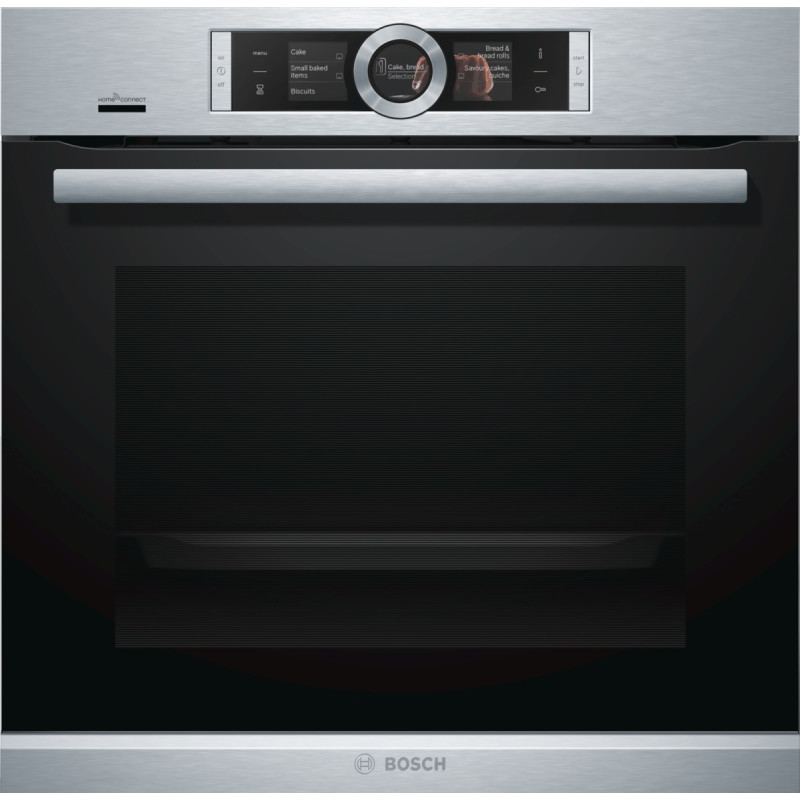 Bosch H595xW595xD548 Home Connect Single Pyrolytic Oven - Stainless Steel primary image