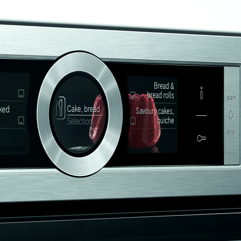 Bosch H595xW595xD548 Home Connect Single Pyrolytic Oven - Stainless Steel additional image 2