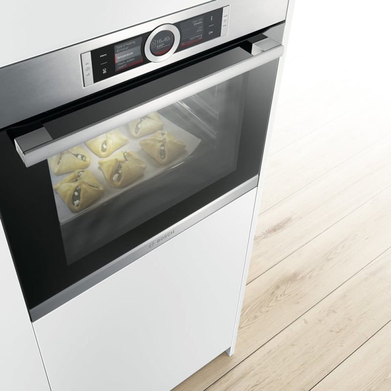 Bosch H595xW595xD548 Home Connect Single Pyrolytic Oven - Stainless Steel additional image 3