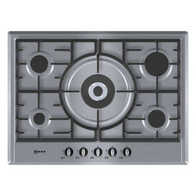 Neff H45xW702xD520 Gas 5 Burner Hob - Stainless Steel
